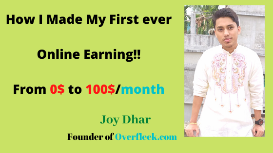 How I Made My First ever online Earning!! From 0$ to 100$/month