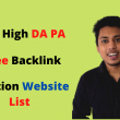 Free Backlink Creation Website List