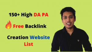 150+ High DA PA Free Backlink Creation Website List