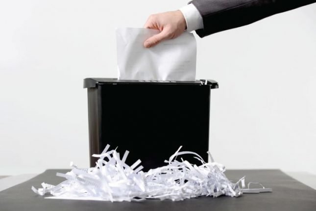 fix jammed paper shredder